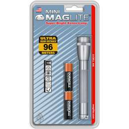 Фонарь MAGLITE Mini, 2AA, серый, 14,6см